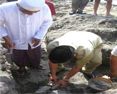 peletakan batu pertama oleh bupati blitar
