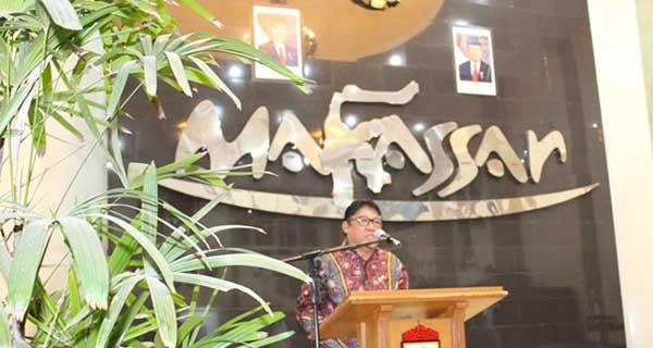 Sambutan oleh Ketua DPW LDII Prov Sulsel Hidayat Nahwi Rasul